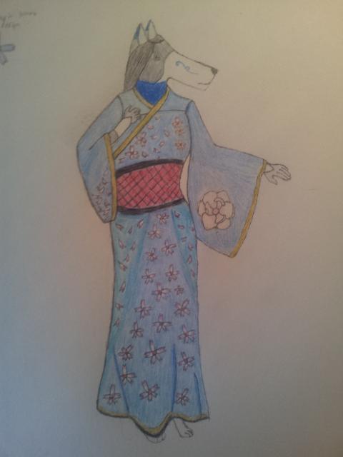 Claire in a Kimono by Liamuuu