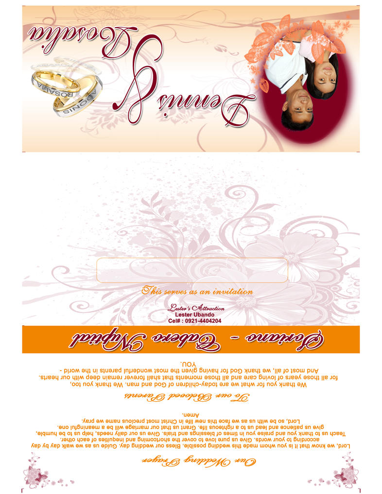 Wedding Invitation by Lesters-Attraction on DeviantArt