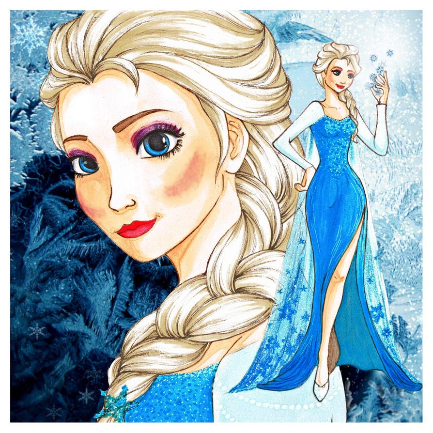 Elsa - Frozen by Olsikowa on DeviantArt