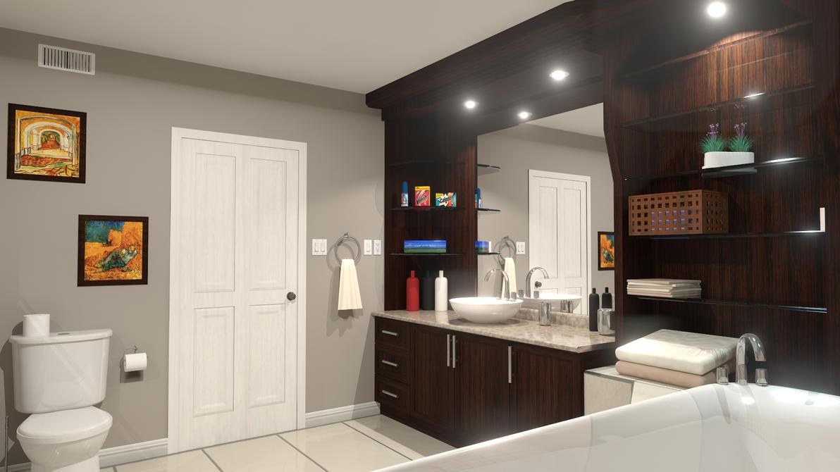 Bathroom by GabrielAuger
