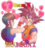 Goku and Chichi by DrabounZ