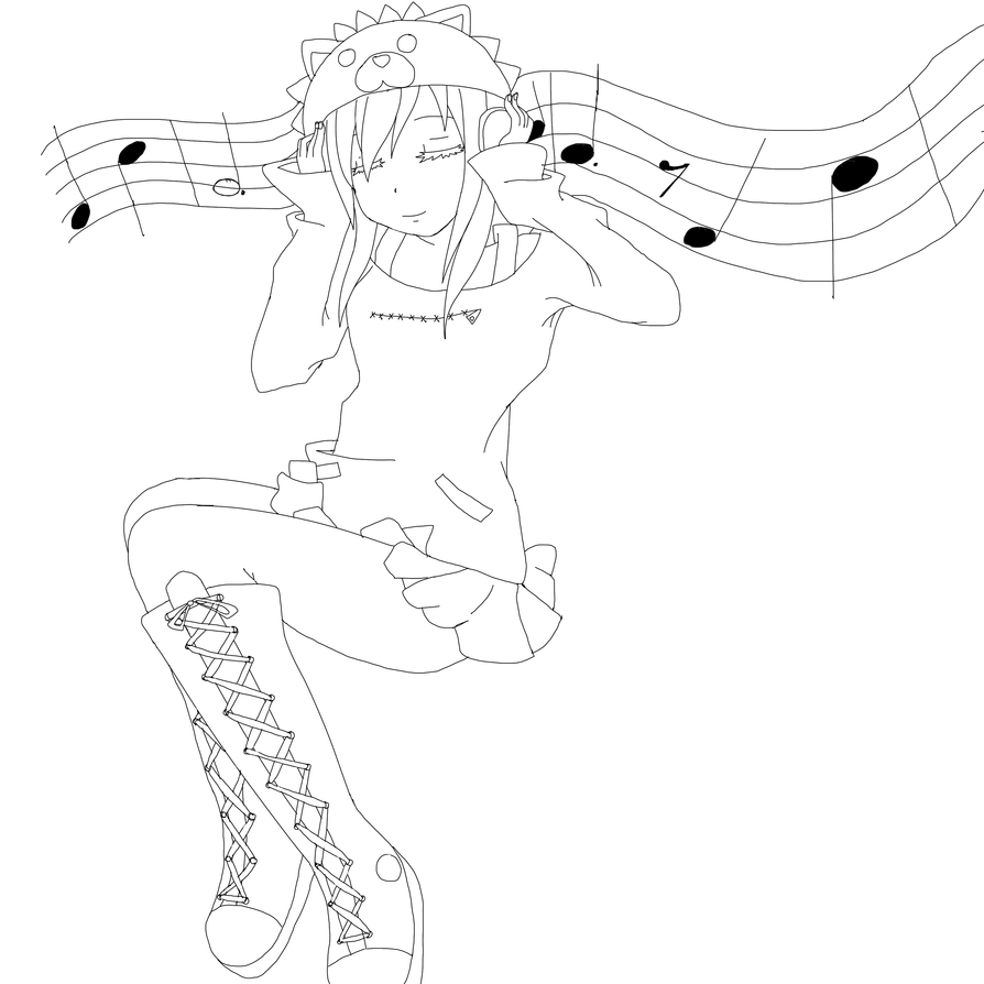 Girl Listening To Music by x-Beyond-B on DeviantArt