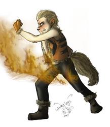 Arcanine Firebender by AlleyCatUmbz
