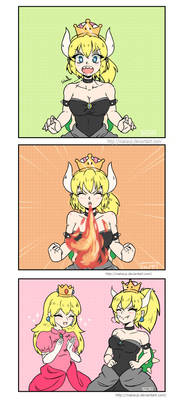 Bowsette and Peach - Comic