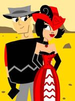 Western Jack and Ashi by AnimeAngelArtist1990