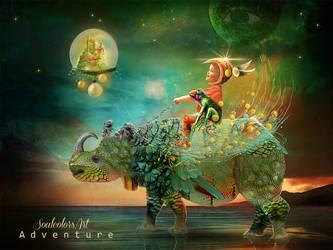 Rhinoceros adventure by SoulcolorsArt