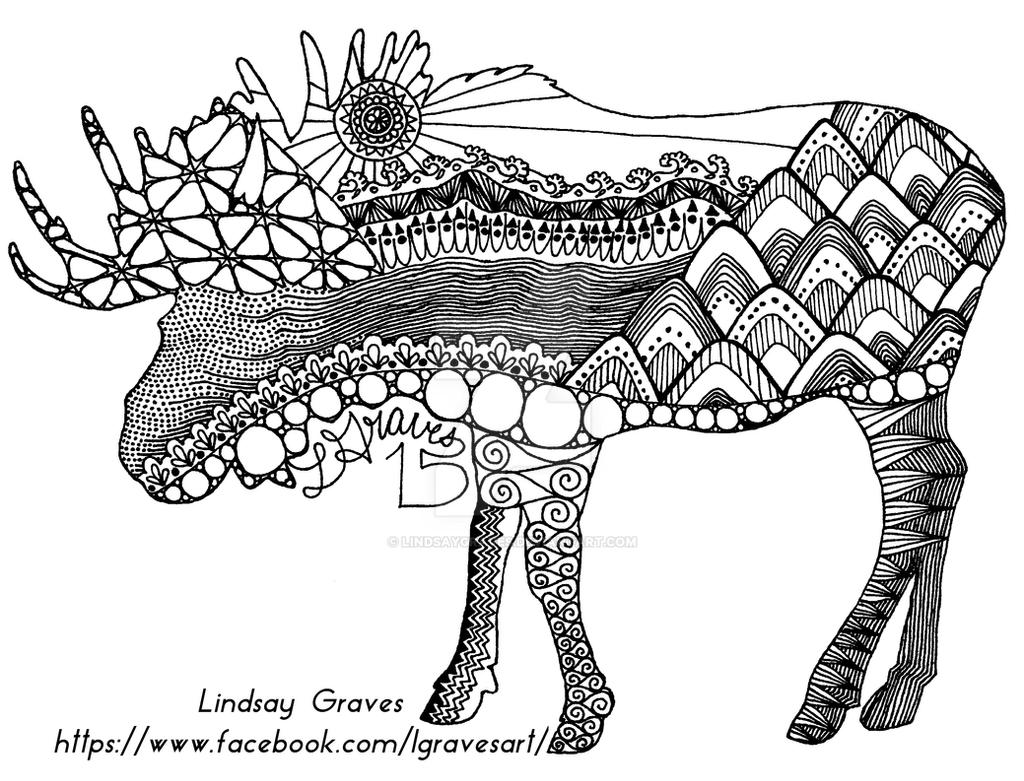 Coloring Pages Moose Head