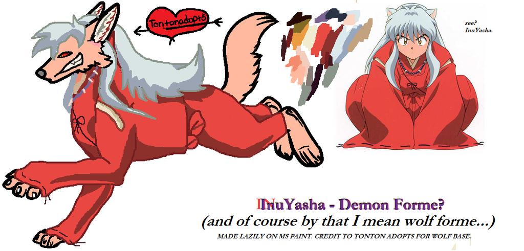 Inuyasha Demon Wolf Credit To Tontonadopts By Fondos De Pantalla