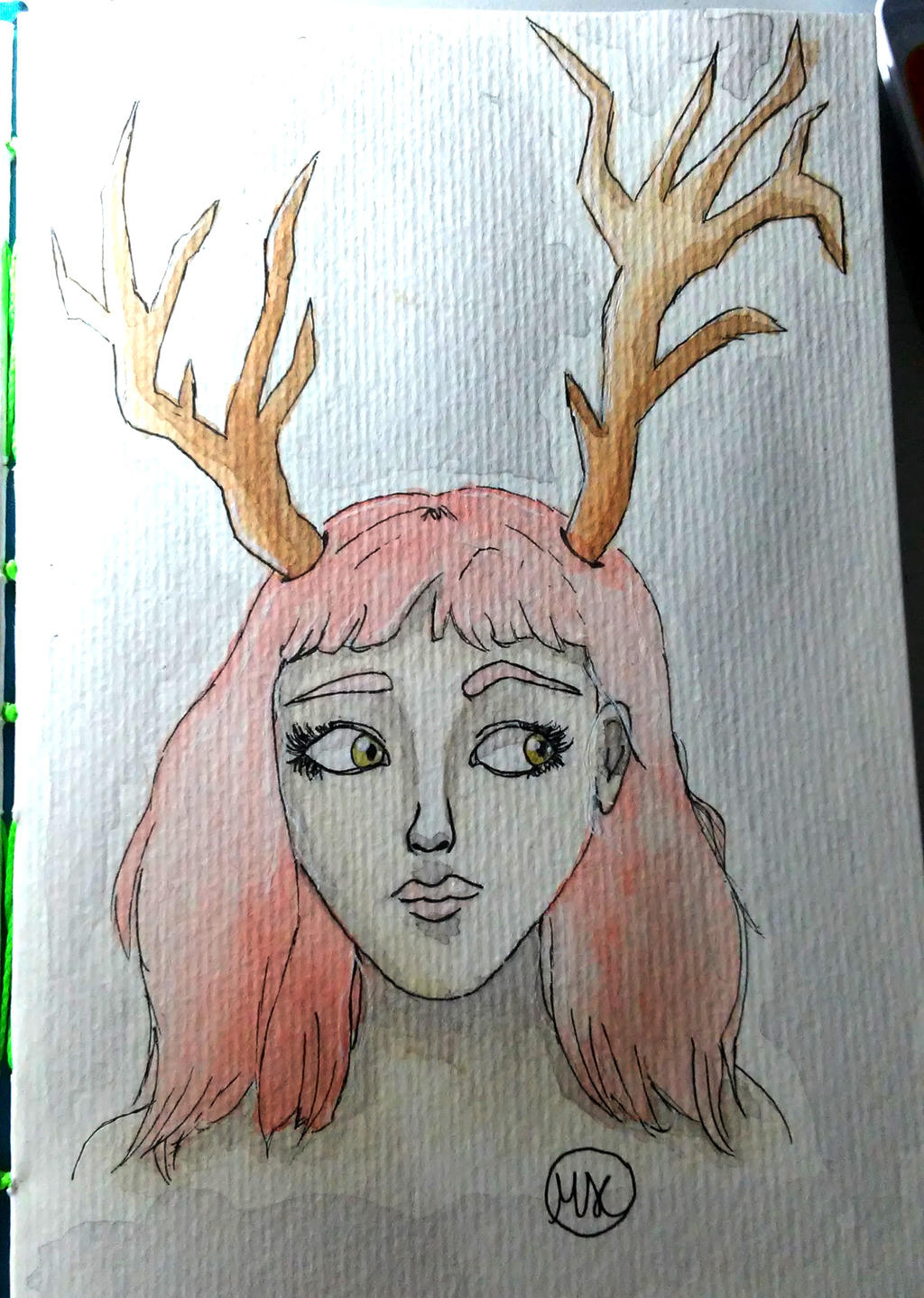 Girl with Horns 2 by hidingmymess