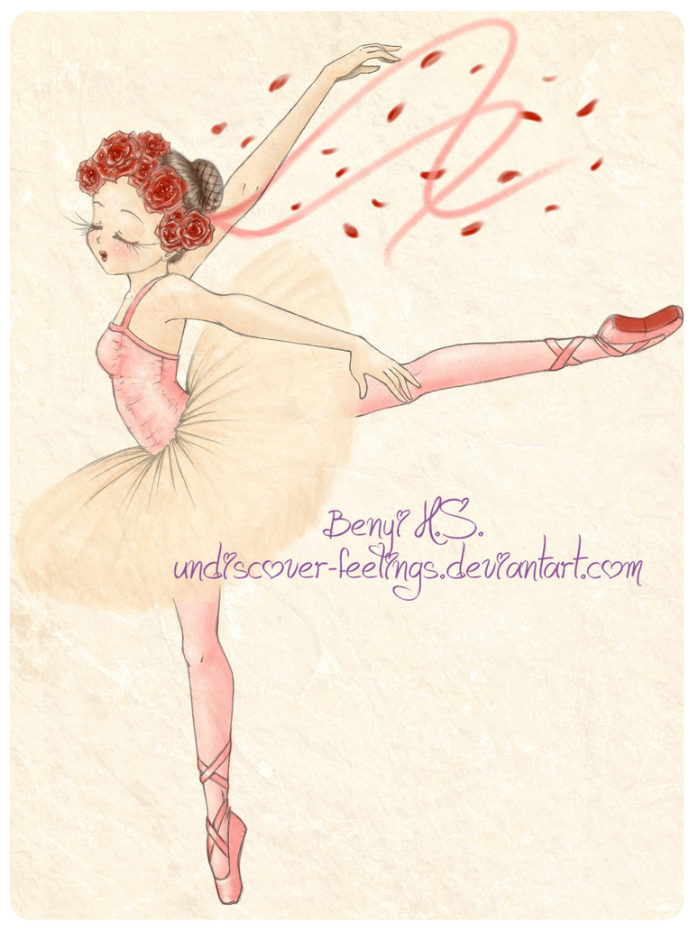 Ballerina of Red Roses by BenyiHS