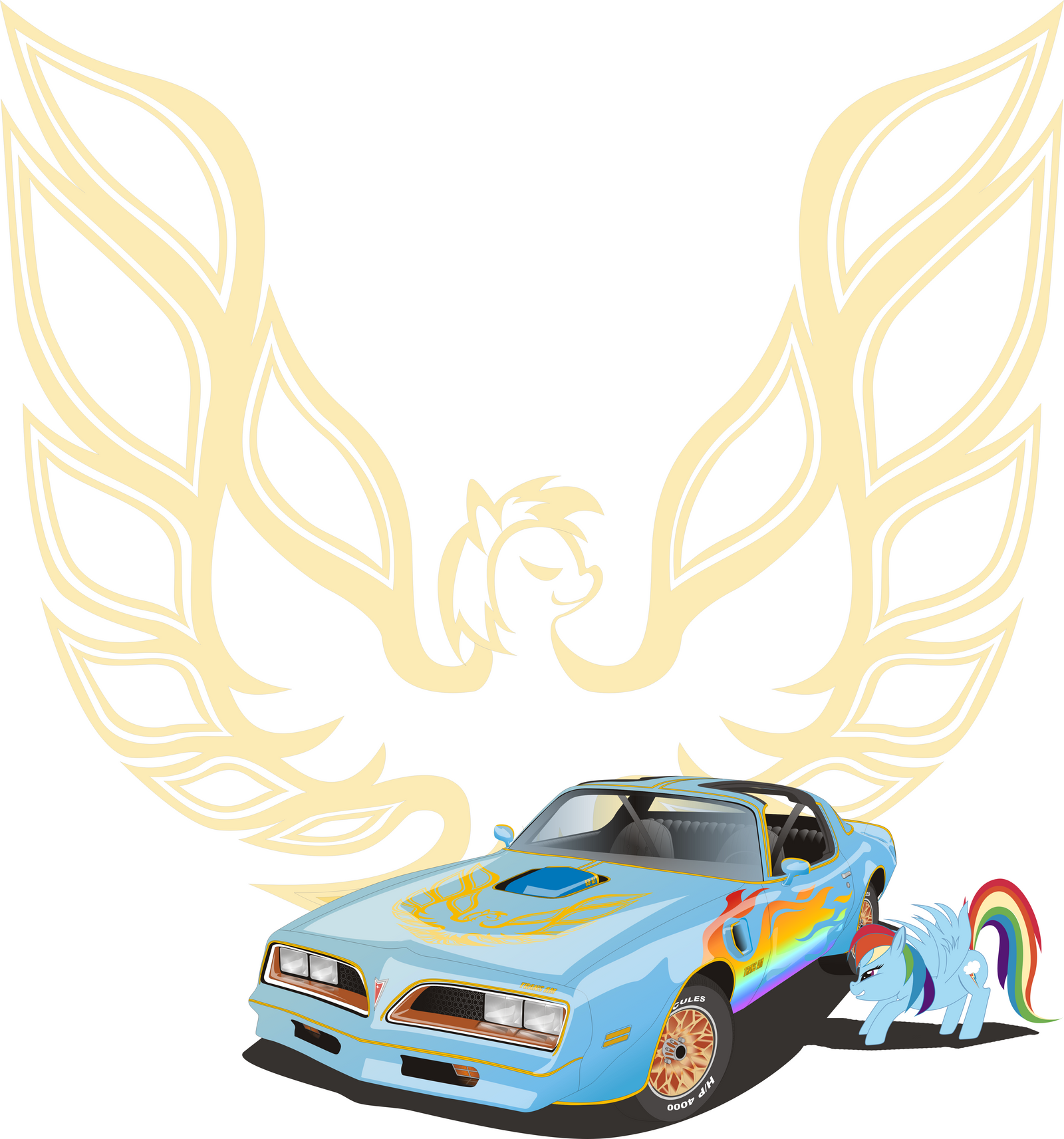 Trans Am 1977 Rainbow edition by 3Maxa