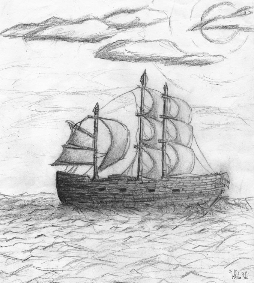 how to draw a pirate ship video