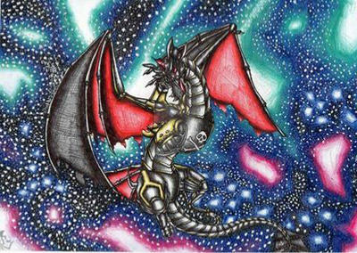 Space dragon  by FlorenceAndTheDragon