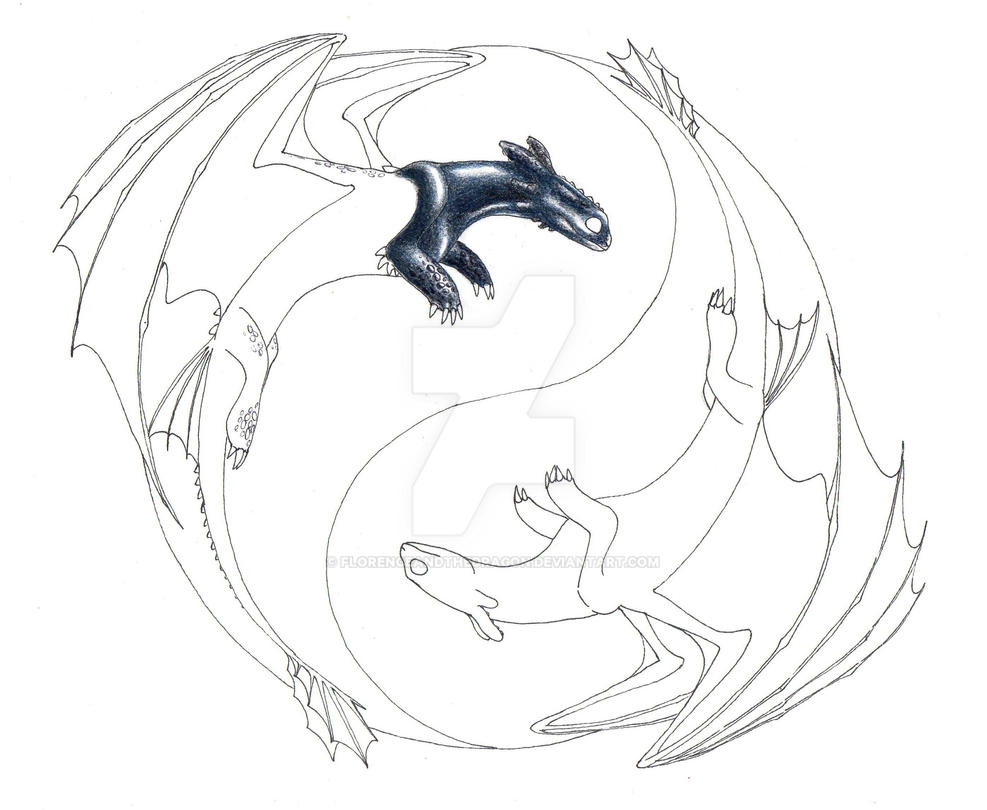 toothless and the white night fury wip by florenceandthedragon on