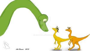Arlo meet the Troodons