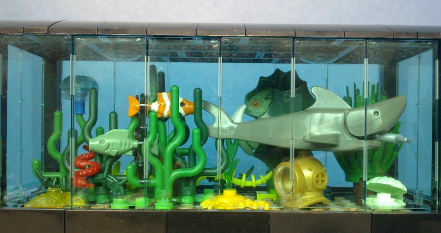 Image gallery lego aquarium for Aquarium decoration sealant