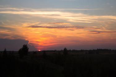 August sunset by Ksantor