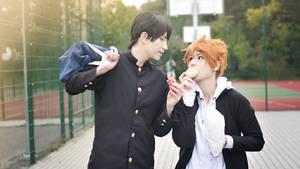 Haikyuu cosplay // Kageyama and Hinata