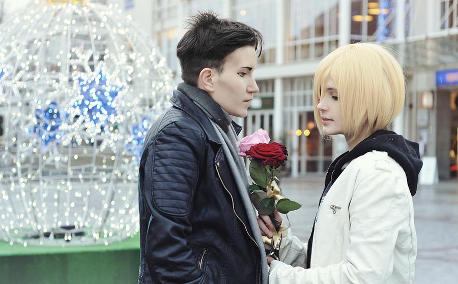 Yuri!!! on ICE cosplay: Otabek and Yurio by DAIxSORA