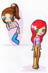 Evo Kitty  + Jean by PrincessBlackRabbit