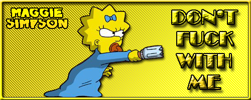 Maggie Simpson Signature by leandruskis