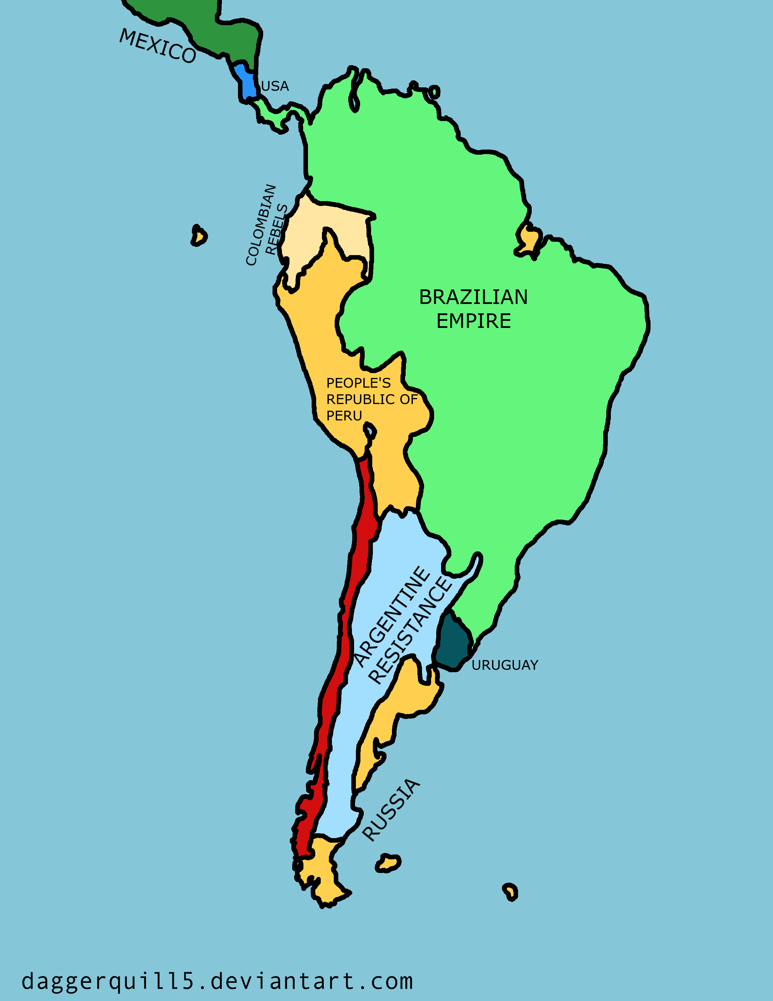 ... Future Map Of South America By Daggerquill5