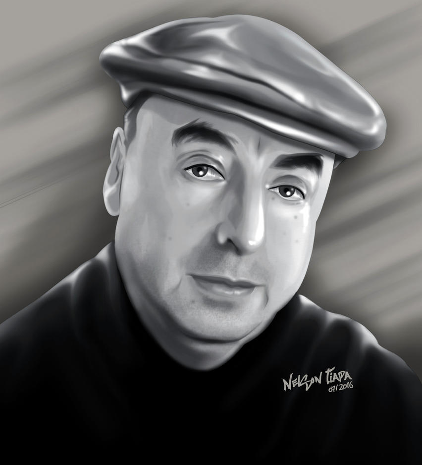 Pablo Neruda by Nelson Tiapa by nelsontiapa