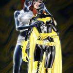 Batgirl and Mystique by kfvik
