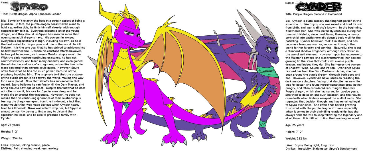 Spyro and Cynder Reference by Insane-Randomness on DeviantArt