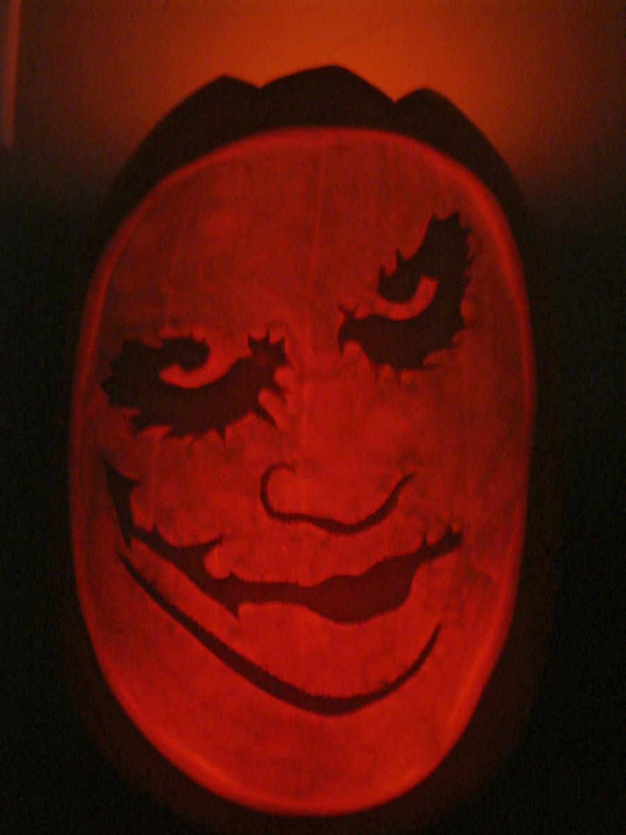 Joker Pumpkin Template Joker Pumpkin Lit by Jfg2597