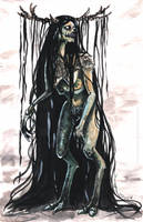 Sketchbook | A Wendigo inspired creature? by CinnamonDevil