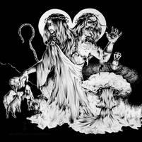 Commission | Flesh Incineration (b/w) by CinnamonDevil