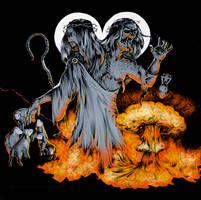 Commission | Flesh Incineration (color) by CinnamonDevil