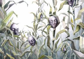 Field of Faces by CinnamonDevil