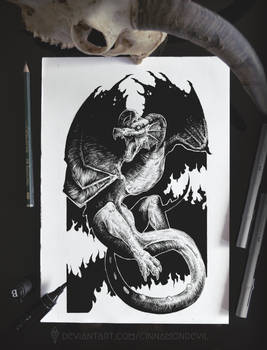 Inktober | Day 12: Dragon