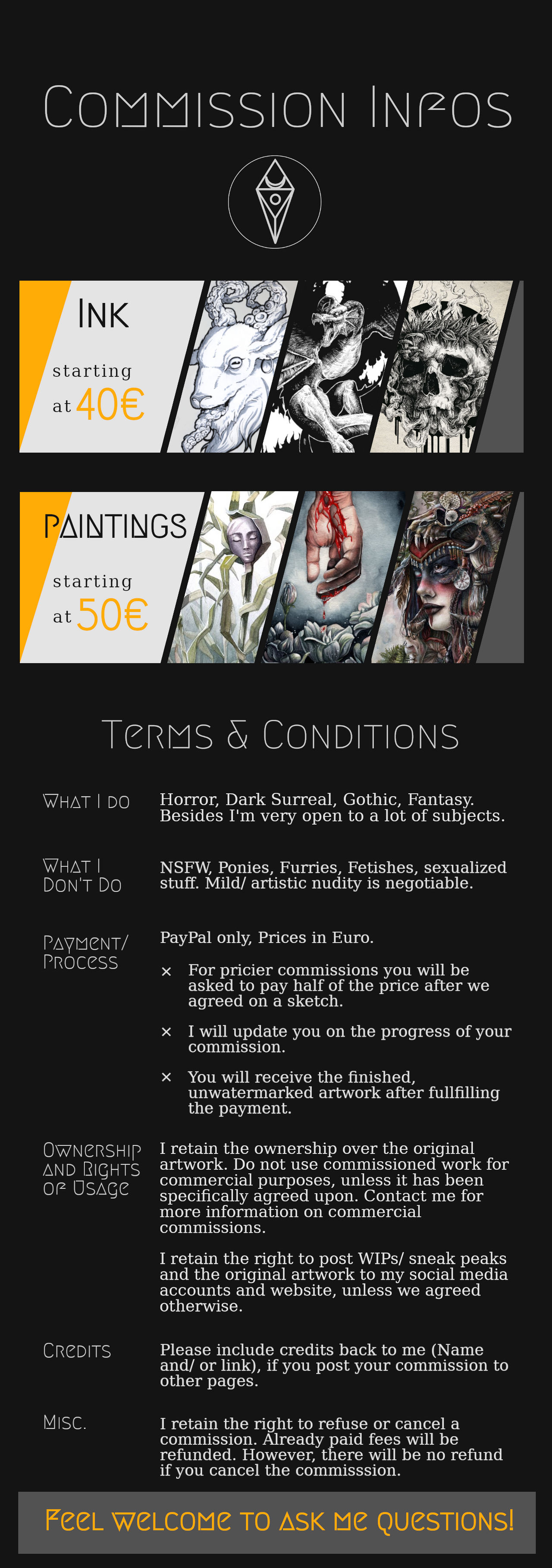 Commissions // Closed till April