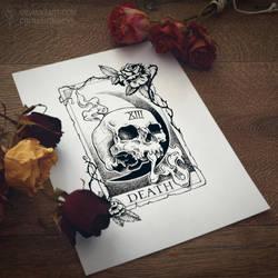 Commission | Tarot Death [Tattoo Design]