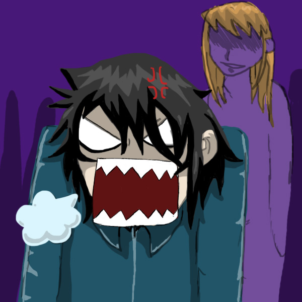 Anime Guy Angry Angry Man by ja...