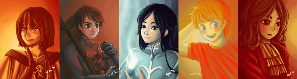 Limited Palette Paintings by lydia-san
