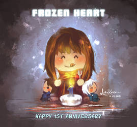 Happy 1st Anniv, Frozen Heart by lydia-san