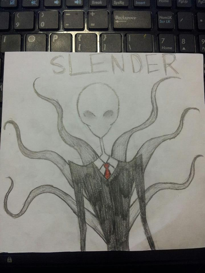 My more creepyier Slender Man by kimmyragefire
