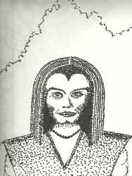 Pointillism Woman by DMDoug