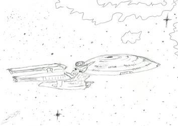 Odyssey class battlecruiser by DMDoug