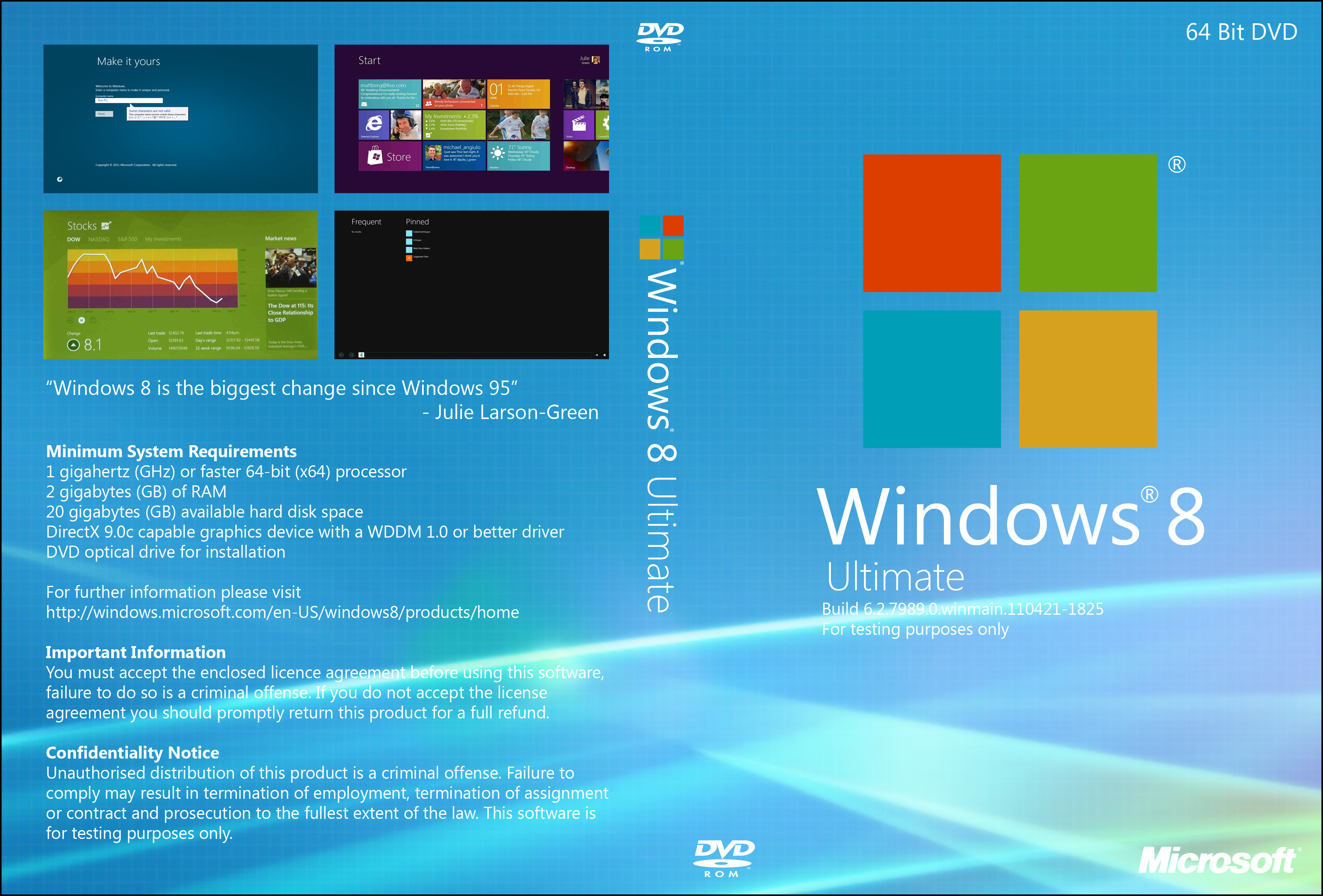 Windows 8 7989 DVD Cover by ben1066