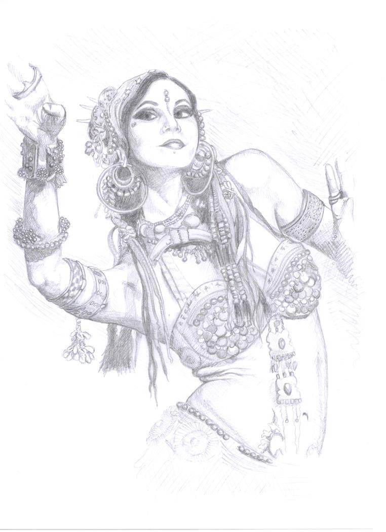 Belly dancer Rachel by Sheptunka