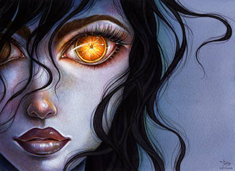 Orange eye by Dzydar