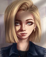 Android 18 by Dzydar