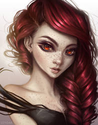 Burning Rose by Dzydar