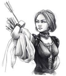 Archer sketch by Dzydar