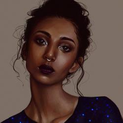 blue stars by Dzydar